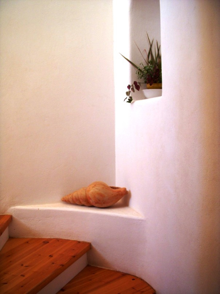 Tao's Center, Paros, Greece, steps shell