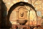 Tao's Center, Paros, Greece, birds lion