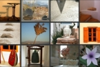 Tao's Center, Paros, Greece, details collage