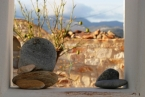Tao's Center, Paros, Greece, beach stones