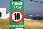 Tao's Center, Paros, Greece, road sign