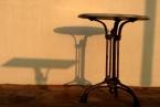 Tao's Center, Paros, Greece, table shadows