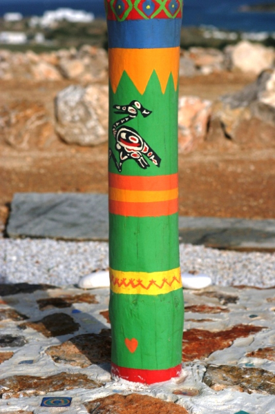 Tao's Center, Paros, Greece, totem
