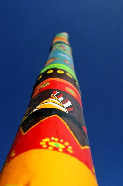 Tao's Center, Paros, Greece, totem top