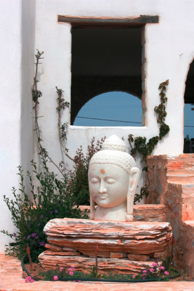 Tao's Center, Paros, Greece, welcom buddha