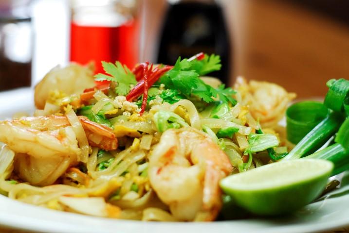 Pad Tai Shrimp